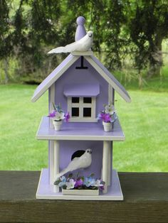 Lavendar Birdhouse Cottage