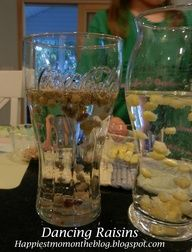 Dancing Raisins Science Experiment. Great science experiment for Pre-K and Grade school children.  Super easy and fun.