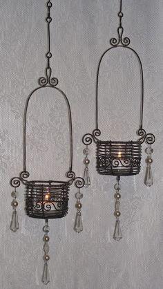 Luffarslöjd, om du frågar mig... - Wire Crafts, Metal Crafts, Wire Board, Iron Wire, Mini Bottles, Chicken Wire, Wire Weaving, Jewelry Making Tutorials, Tea Light Holder
