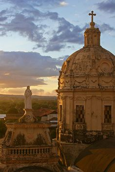 by eliciaire on Flickr.  View from the Bell Tower, Iglesia de la Merced, Granada, Nicaragua.