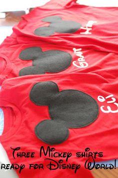 DIY personalized disneyland shirts!