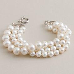 Tis the season for J Crew!  Classically gorgeous pearl bracelet.
