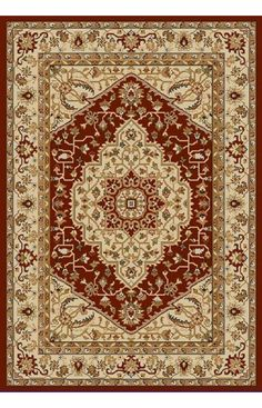 $5 Off when you share! Safavieh Austin AUS1580 Red Creme Rug | Traditional Rugs #RugsUSA