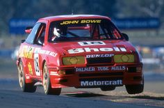 John Bowe flying in the Cosworth ATCC Ford Rs, Car Ford, Tc Cars, Ford Vehicles, V8 Supercars, Ford Sierra, Australian Cars, Road Racing, Mustangs