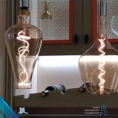 Vintage Filament žiarovka DEMIJOHN, zlatá - 5W, E27, 250lm, Stmievateľná, Teplá biela (2) Wine Decanter, Globes, Led, Vintage, Retro, Home Decor, Italia, Decoration Home, Room Decor
