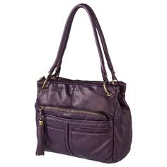 BUENO Dk Purple Washed Shoulder Bag