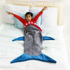 Glow in the Dark Shark Blanket - Blankie Tails Shark Tail Blanket, Mermaid Tail Blanket, Mermaid Tails, 10 Year Old Boy, Cooling Blanket, Minky Fabric, Cozy Blankets, Old Boys, Sleepover