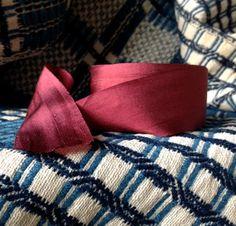 red burgundy silk ribbon simple elegant holiday wedding diy decor farmhouse primitive
