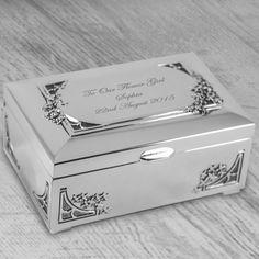 Personalised Small Vintage Trinket Box