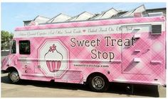 Sweet Treat Stop' is the First and only 'state of the art' bakery truck in the Bay Area,baking Artisan Gourmet Cupcakes& Other Sweet Treats Fresh on the spot!  Our kitchen is custom built,complete with commercial convection ovens and every other feature of a traditional bakery.The 'Sweet Treat Stop'gourmet mobile bakery truck is owned and operated by Executive Pastry Chef~Audrey Kramer,a graduate of Le Cordon Bleu's'Patisserie & Baking Program'.