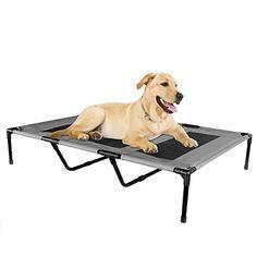 Kopeks - Elevated Indoor Outdoor Portable Bed - Extra Large Size Grey Color >>> Additional details @
