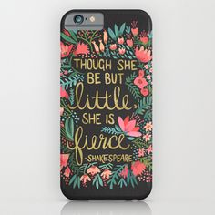 iphone6 and phone cases. Little & Fierce on Charcoal by Cat Coquillette $35.00 #iphone6 #iphonecases