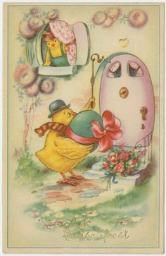Old, beautiful foreign Easter postcard, via New York Public Library