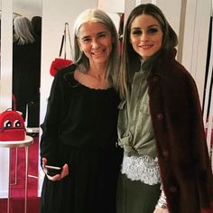 So grateful to the beautiful people we met today❤ at @massimobonini_showroom #pressday #mfw #top #style #glamour #oliviapalermo
