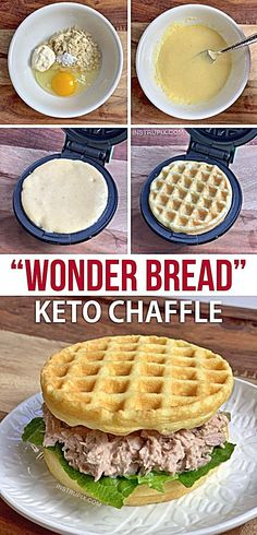 ) - Instrupix This easy keto waffle recipe is made with simple ingredients: almond flour, mayo, egg and baking powder. An absolutely amazing mini waffle maker recipe that makes for excellent low carb sandwich bread! Ketogenic Recipes, Low Carb Recipes, Diet Recipes, Recipes Dinner, Ketogenic Diet, Breakfast Recipes, Dessert Recipes, Breakfast Ideas, Breakfast Gravy