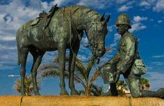 The Horse Memorial Provinces Of South Africa, Port Elizabeth, Equine Art, Great Memories, Beautiful World, Great Places, Tourism, Places To Visit, Lion Sculpture