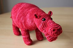 Hippo free crochet pattern by Roswitha Mueller