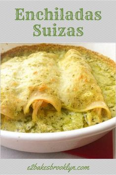Chicken Enchiladas In A Tomatillo Sauce – Food Veggie Recipes, Mexican Food Recipes, Real Food Recipes, Chicken Recipes, Cooking Recipes, Yummy Food, Mexican Desserts, Freezer Recipes, Freezer Cooking