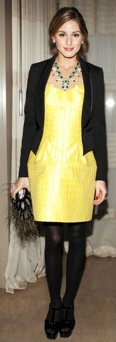 Olivia Palermo vestido + casaco