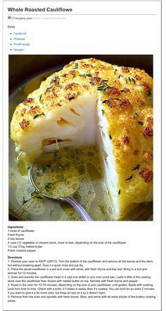 Dash Diet Recipes, Low Carb Recipes, Vegetarian Recipes, Cooking Recipes, Fast Recipes, Healthy Recipes, Other Recipes, Side Dish Recipes, Whole Food Recipes