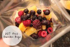 DIY- Fruit Smoothie Bags