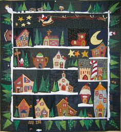 "quilt santa village | Santa's village"" in appliqué de Becky Gold Smith"