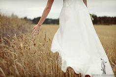 #bride #field #wedding  image by Maria Hedengren