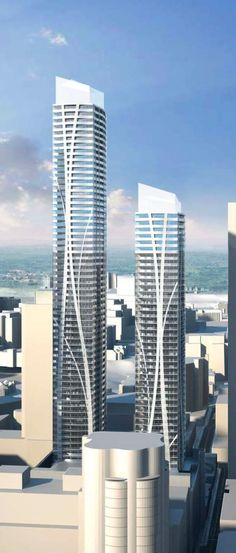 27 Yorkville Avenue Towers,  by Wallman Arcjotects (60 and 55 floors) Toronto, CANADA