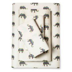 Whimsical Elephant Print Sheet Set (Twin XL) Ivory - Elite Home