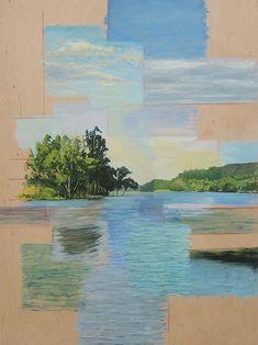 Hockneyesque paintings...postcards?  Ryan M Reynolds
