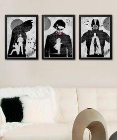 Batman Dark Knight Trilogy Minimalist Poster Set / by onlyarts, $32.90