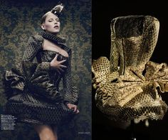 Giovanni Bedin - i love the idea of a rusting appearance to a body corset/ body piece .
