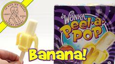 Wonka Peel a Pop Vanilla Banana Ice Cream Bar - It's Squishy!  #WonkaPeelPop #BananaIceCream #WillyWonka