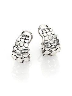 John Hardy - Dot Sterling Silver Buddha Belly Earrings