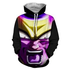 Dragon Ball Frieza Angry Portrait 3D Full Printed Cool Hoodie  #DragonBall #Frieza #Angry #Portrait #3D #Full #Printed #Cool #Hoodie