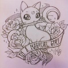 comiccharm: Sailor Moon tattoo flash, just cuz!
