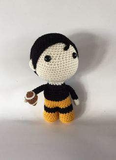 Baby Football Player  Crocheted Football Player Plushie by meddywv