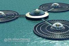 Christopher William Adach - handbook: Visions of Jacque Fresco Floating Architecture, Water Architecture, Futuristic Architecture, Sustainable Architecture, Amazing Architecture, Architecture Design, Agriculture Durable, Future Buildings, Unique Buildings