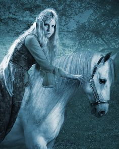 Elven Gondolin Princess, Idril, and her horse....