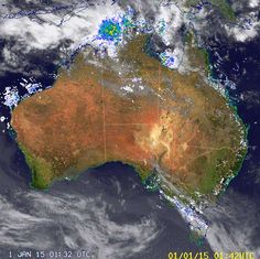 "National Radar image Darwin being dumped on at the start of ""The Wet Season""."