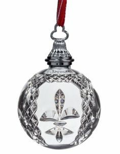 2013 Waterford Crystal Fleur de Lis Ball Christmas Ornament by Waterford Price: $100.00