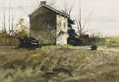 Andrew Wyeth, The Mill House at Ivy Mills, Pennsylvania, watercolor on paper, 1954