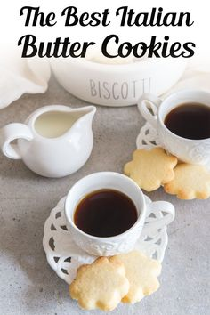 A buttery simple Italian Cookie. This is the easiest butter cookie recipe! Serve this easy cookie recipe as a holiday cookie or with tea or coffee in the afternoon. Try making these easy Italian Butter Cookies for afternoon tea, or anytime! #buttercookies #cookies Baking Recipes, Cookie Recipes, Dessert Recipes, Bar Recipes, Butter Cookies Recipes, Cookie Desserts, Pasta Recipes, Recipies, Easy Sugar Cookies