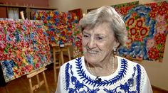 Tetê Brandolim, a artista plástica que aprendeu a ler e escrever com 82 anos #gshow