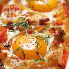 Baked eggs with roasted vegetables @ allrecipes.co.uk