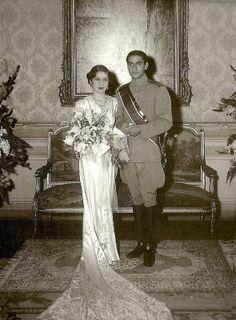 TIH Princess Fawzia of Egypt & Shahpour Mohamed Reza Pahlavi of Iran, Kubbeh Palace, Cairo, Egypt, circa 1939.