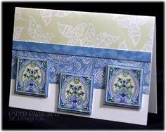 Beautiful layers of blue...Paper Parachute®