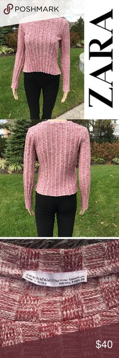 Red Zara Long Sleeve shirt Red Zara Long Sleeve Crew Neck  Not a tee shirt , thick almost sweater like  Like New  No rips tears or stains   Buy 2 items get 3rd half off , offering bundle discounts & accepting all reasonable offers #4 Zara Sweaters Crew & Scoop Necks