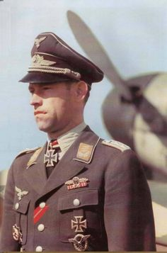 ✠Heinrich Ehrler (14 September 1917 – 4 April 1945) Luftwaffe fighter ace during World War II, a credited with 208 enemy aircraft shot down in over 400 combat missions. The majority of his victories were claimed over the Eastern Front, with nine claims over the Western Front which included eight in the Messerschmitt Me 262 jet fighter.