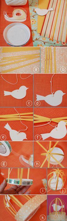 DIY pássaro na gaiola
